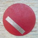 Circulo frisado - Diâmetro: 90 cm | Profundidade: 3 | Material: MDF, papel de fibra de banana e inox