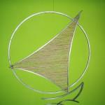 Veleiro - Largura: 100 cm | Altura: 100 cm | Profundidade: 3 cm | Material: Aço e fibra de banana