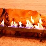 Lareira Silestone - Largura: 120 cm | Altura: 60 cm | Profundidade: 40 cm | Material: Silestone, inox e vidro temperado