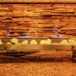 Lareira Pedra Branca - Largura: 70 cm | Altura: 50 cm | Profundidade: 30 cm | Material: Inox
