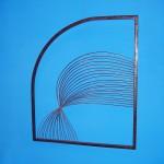 Interseção - Largura: 60 cm | Altura: 60 cm | Profundidade: 60 cm | Material: Ferro e inox