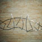 Regata - Largura: 220 cm | Altura: 80 cm | Profundidade: 4 cm | Material: Inox