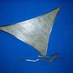 Veleiro - Largura 70 cm | Altura: 70 cm | Profundidade: 3 cm | Material: Inox e fibra de banana
