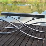 Lareira Barcelona - Largura: 120 cm | Altura: 80 cm | Profundidade: 40 cm | Material: Inox e vidro temperado