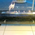 Lareira de Dormente - Largura: 70 cm | Altura: 25 cm | Profundidade: 40 cm | Material: Dormente e inox