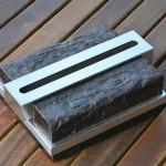 Lareira Mini - Largura: 50 cm | Altura: 15 cm | Profundidade: 25 cm | Material: Madeira e inox