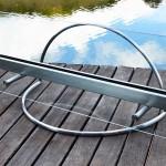Lareira Meia Lua - Largura: 120 cm | Altura: 60 cm | Profundidade: 50 cm | Material: Inox e vidro temperado