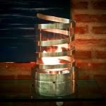 Queimador Espiral - Largura: 25 cm | Altura: 43 cm | Material: Inox e vidro
