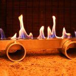 Lareira Cilindro de Alumínio - Largura: 60 cm | Altura: 25 cm | Profundidade: 20 cm | Material: Inox