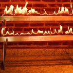 Lareira Cascata - Largura: 120 cm | Altura: 70 cm | Profundidade: 40 cm | Material: Inox